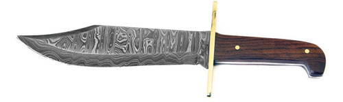Bear and Sons Damascus Bowie Knife
