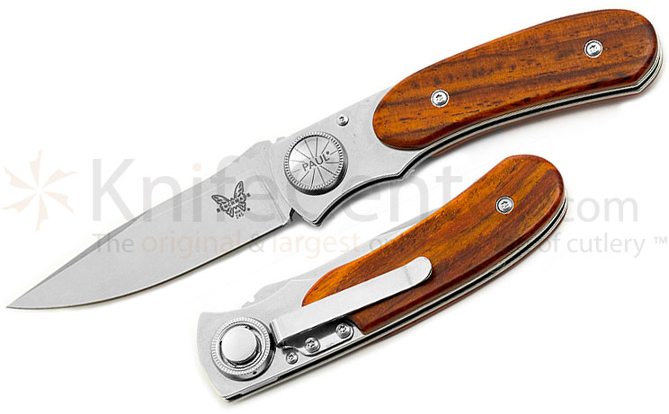 Benchmade A4 245-1 Paul Axial Gent's Knife 3.12 inch Blade, Cocobolo Handles