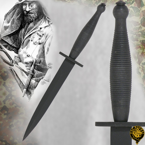 Fairbairn/Sykes Letter Opener Steel Blade Blackened Grip