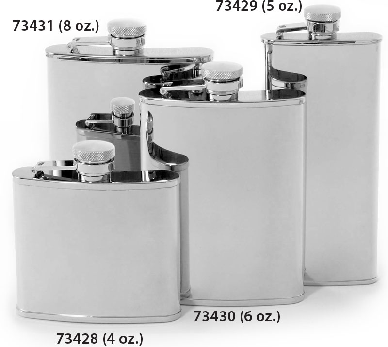 Reviews And Ratings For Concord 6 Oz Mirror Polish Stainless Steel Flask Knifecenter 1 0734 30