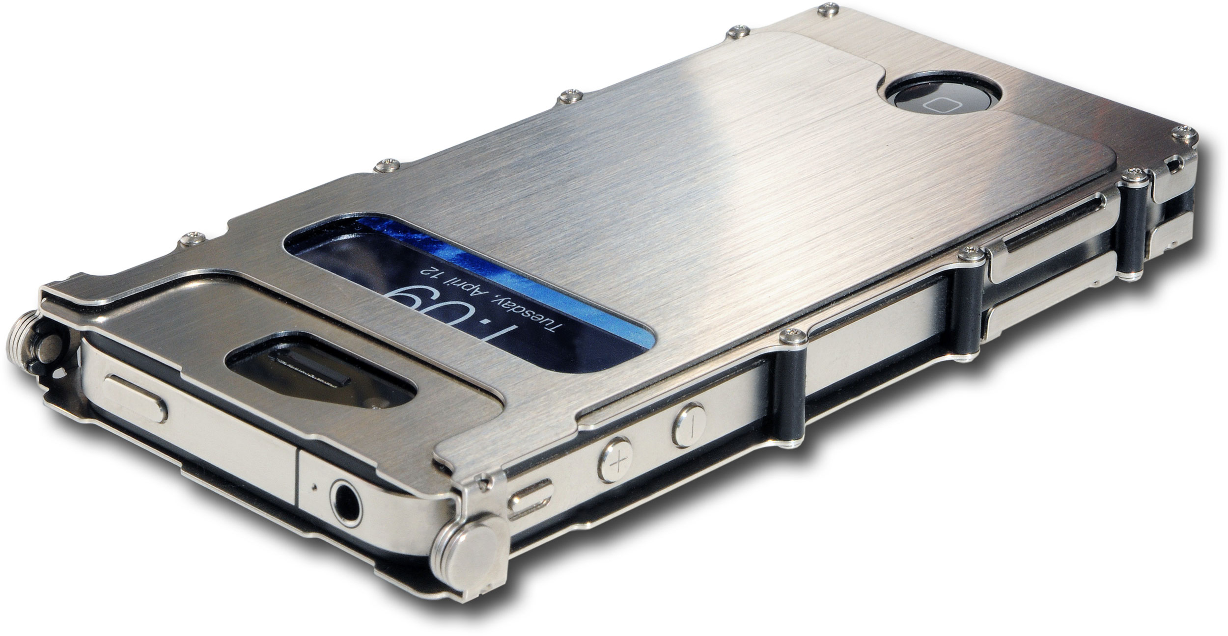 Columbia River iNoxCase Stainless Steel iPhone 4 or iPhone 4S Case, Silver