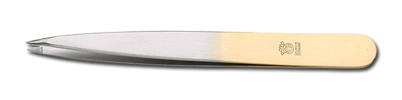 DOVO Silver and Gold Color Pointed Tip Stainless Tweezer From Germany