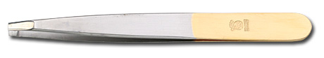 DOVO Silver and Gold Colored Straight Tip Stainless Tweezer Germany