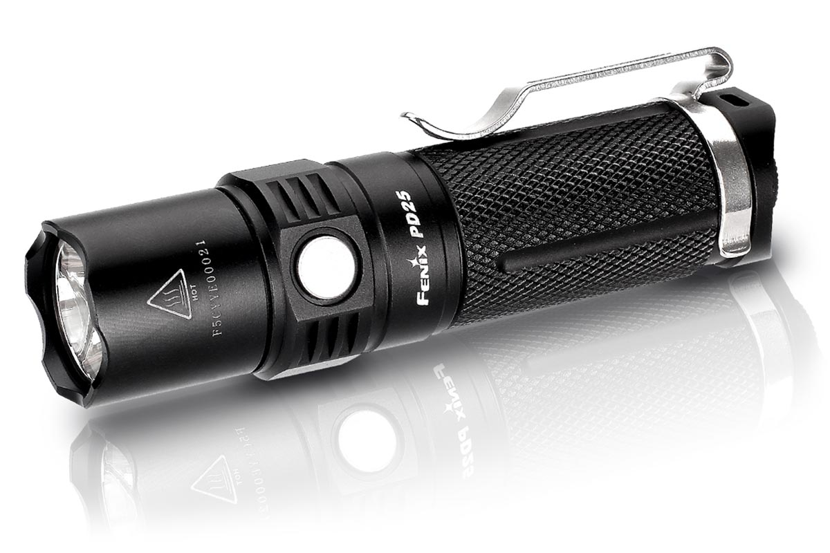 Fenix PD25 LED Flashlight, Black, 550 Max Lumens