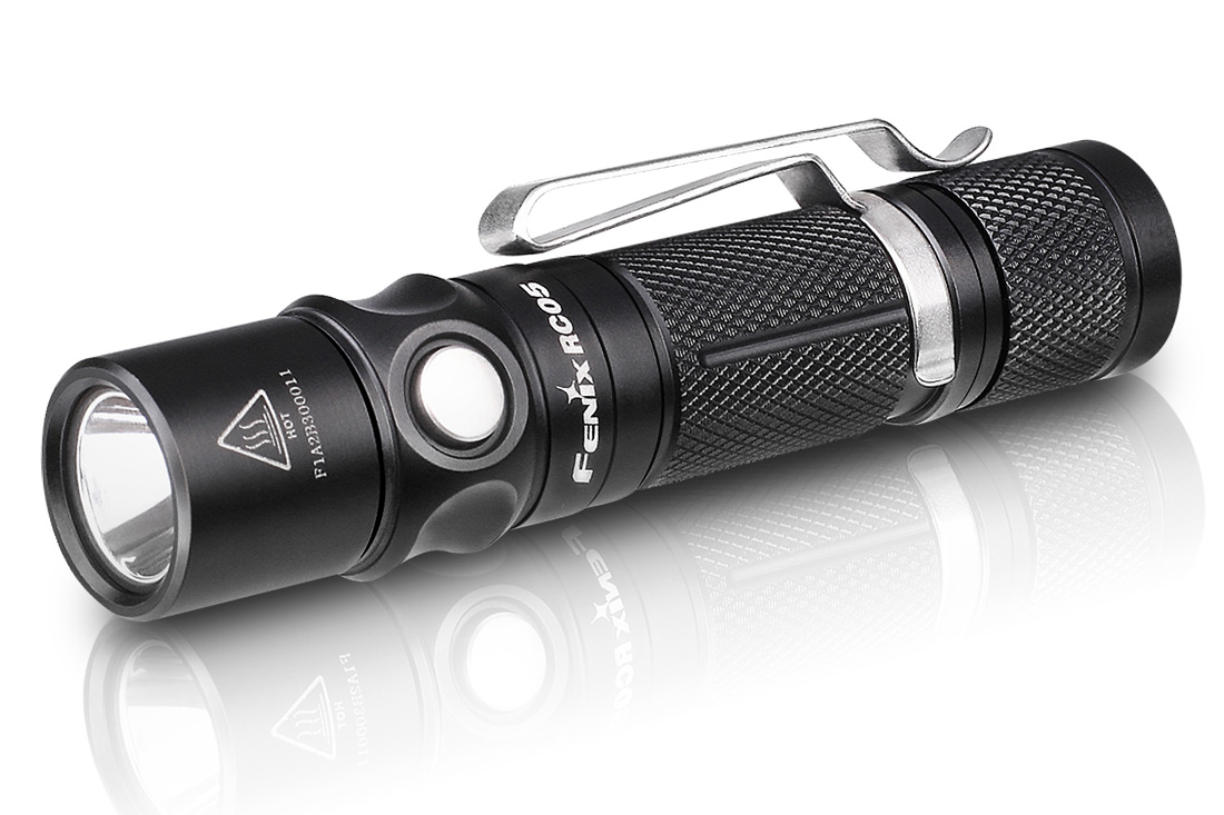 Fenix RC05 Rechargeable LED Flashlight, Black, 300 Max ...