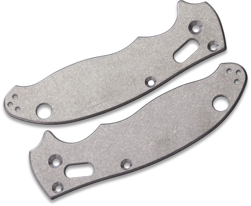Flytanium Titanium Scales for Spyderco Manix 2, Antique Stonewash, Knife Not Included