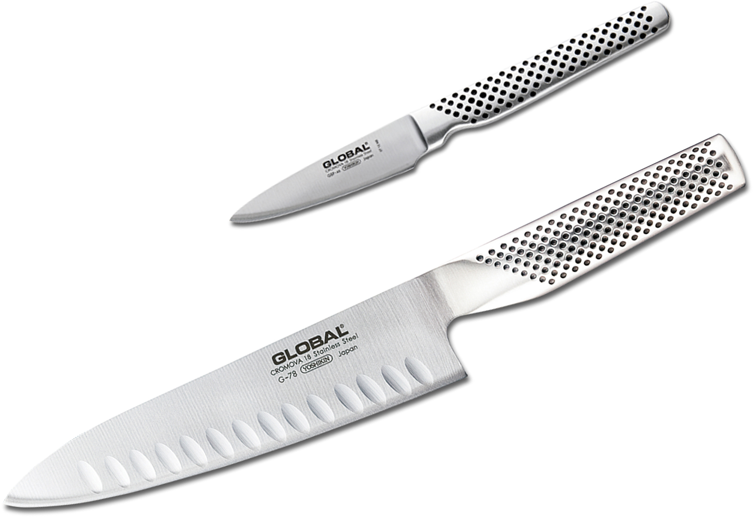 Global G-7846 Classic 2 Piece Kitchen Knife Set
