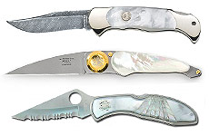 Mother of Peal Folding Knives