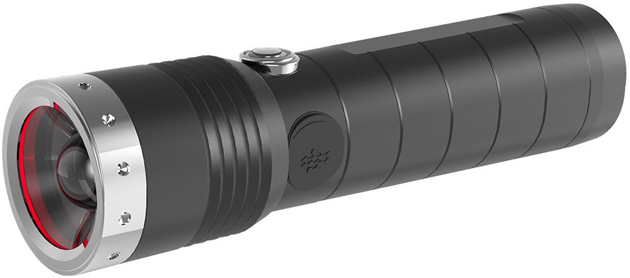 LED Lenser 880381 MT14 Outdoor Series Rechargeable LED Flashlight, 1000 Max Lumens, Black
