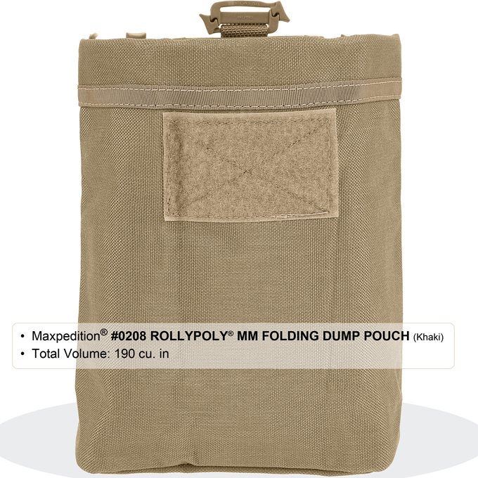 d129ff7a82 Maxpedition 0208G Rollypoly Folding Dump Pouch