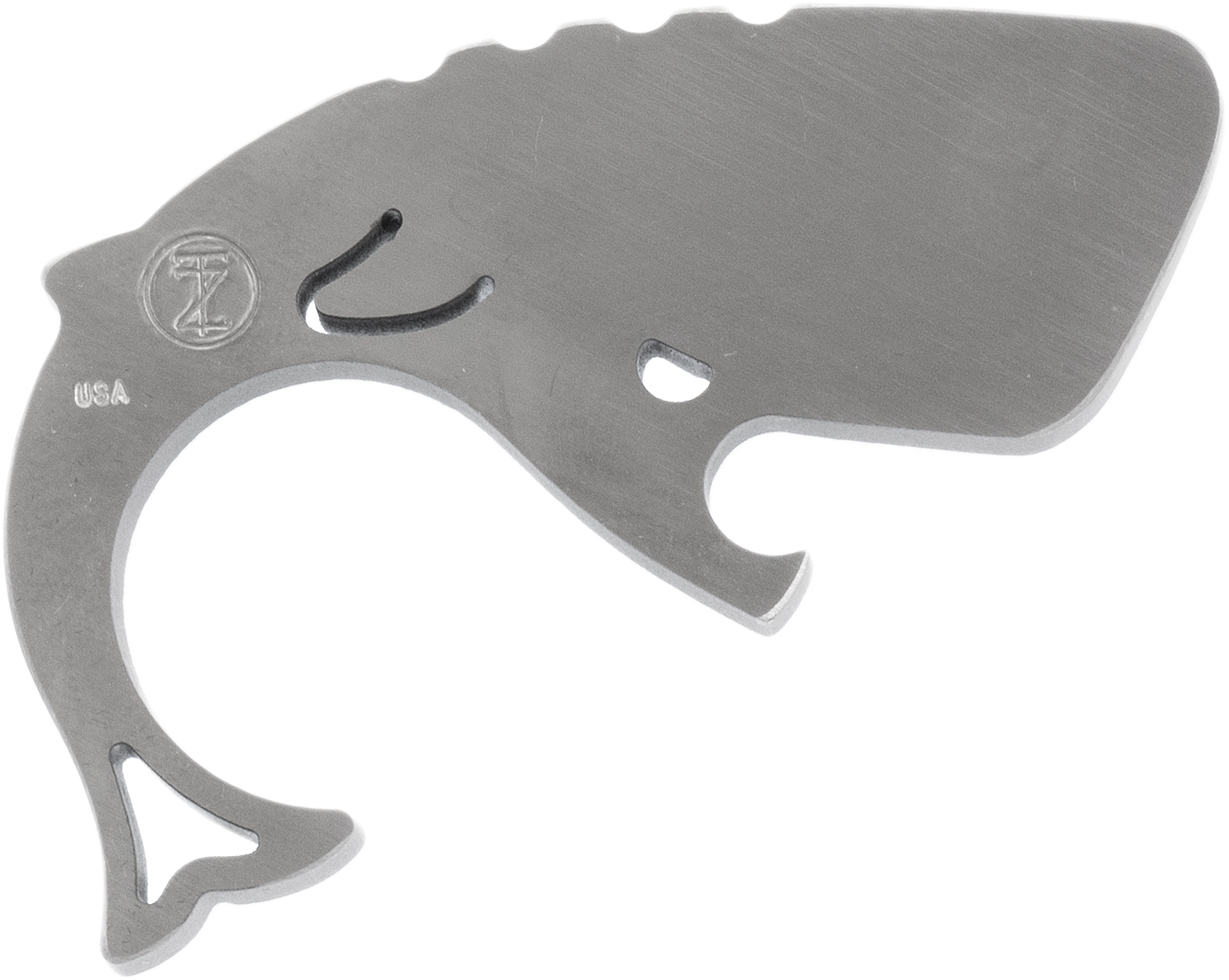 Moby Whalers 0.29 inch Thick Brushed Titanium Moby Whaler V3 Bottle Opener