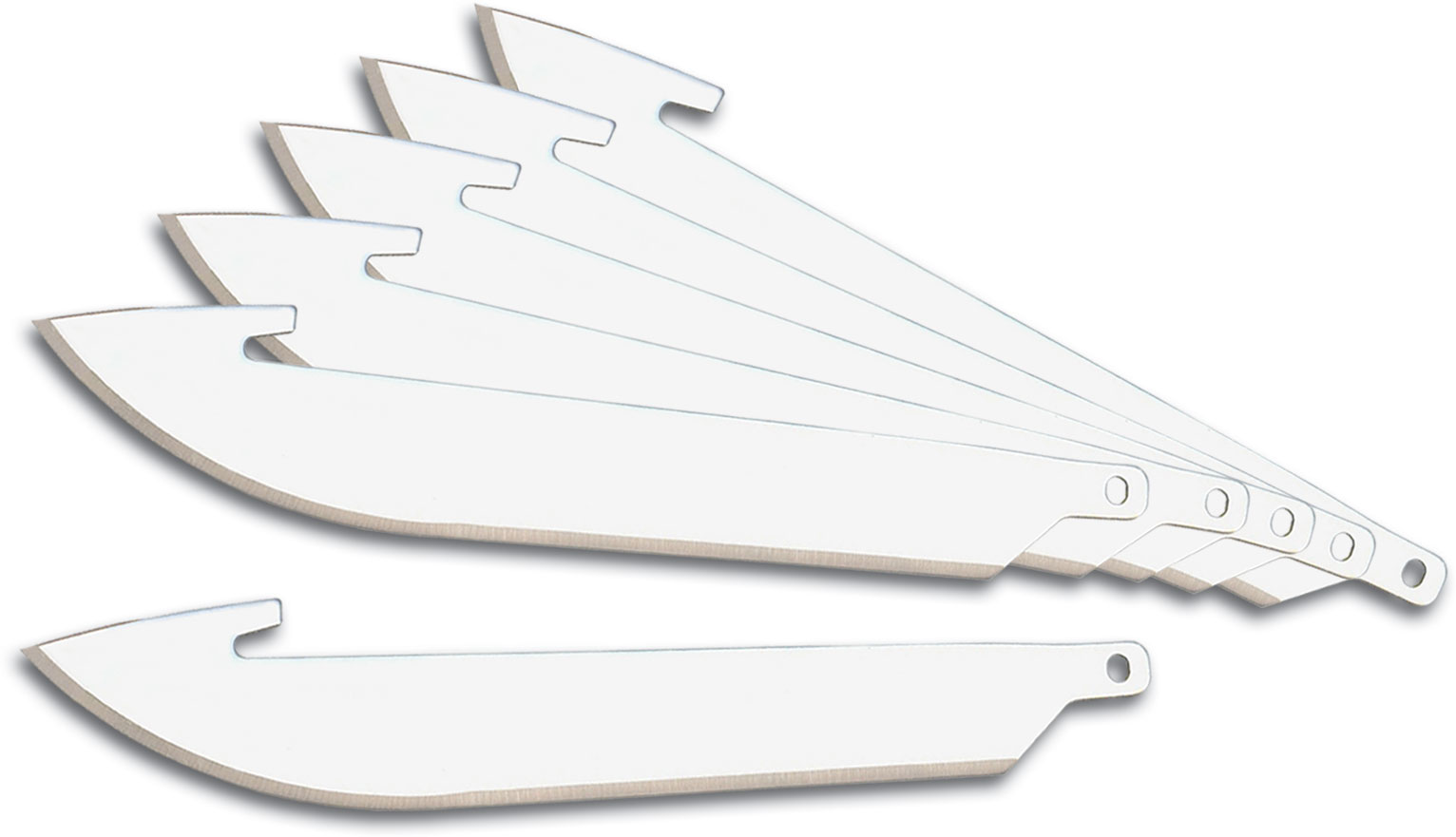 Outdoor Edge 3.5 inch Razor-Lite and Razor-Blaze Pack of 6 Replacement Blades