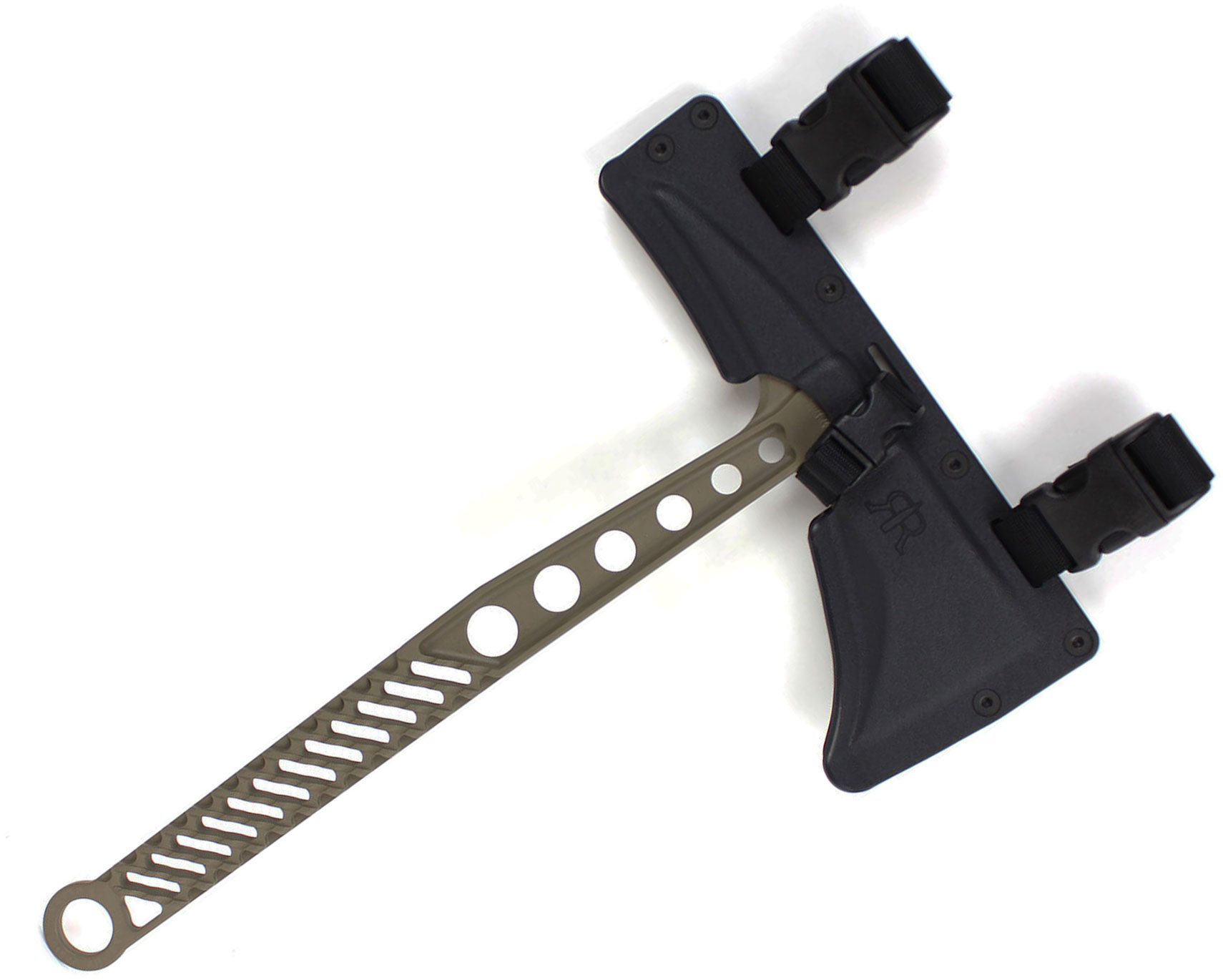 Red Rock Rifleworks MT-1 Monolithic Tactical Tomahawk, FDE Cerakote, 14.75 inch Overall, Kydex Sheath