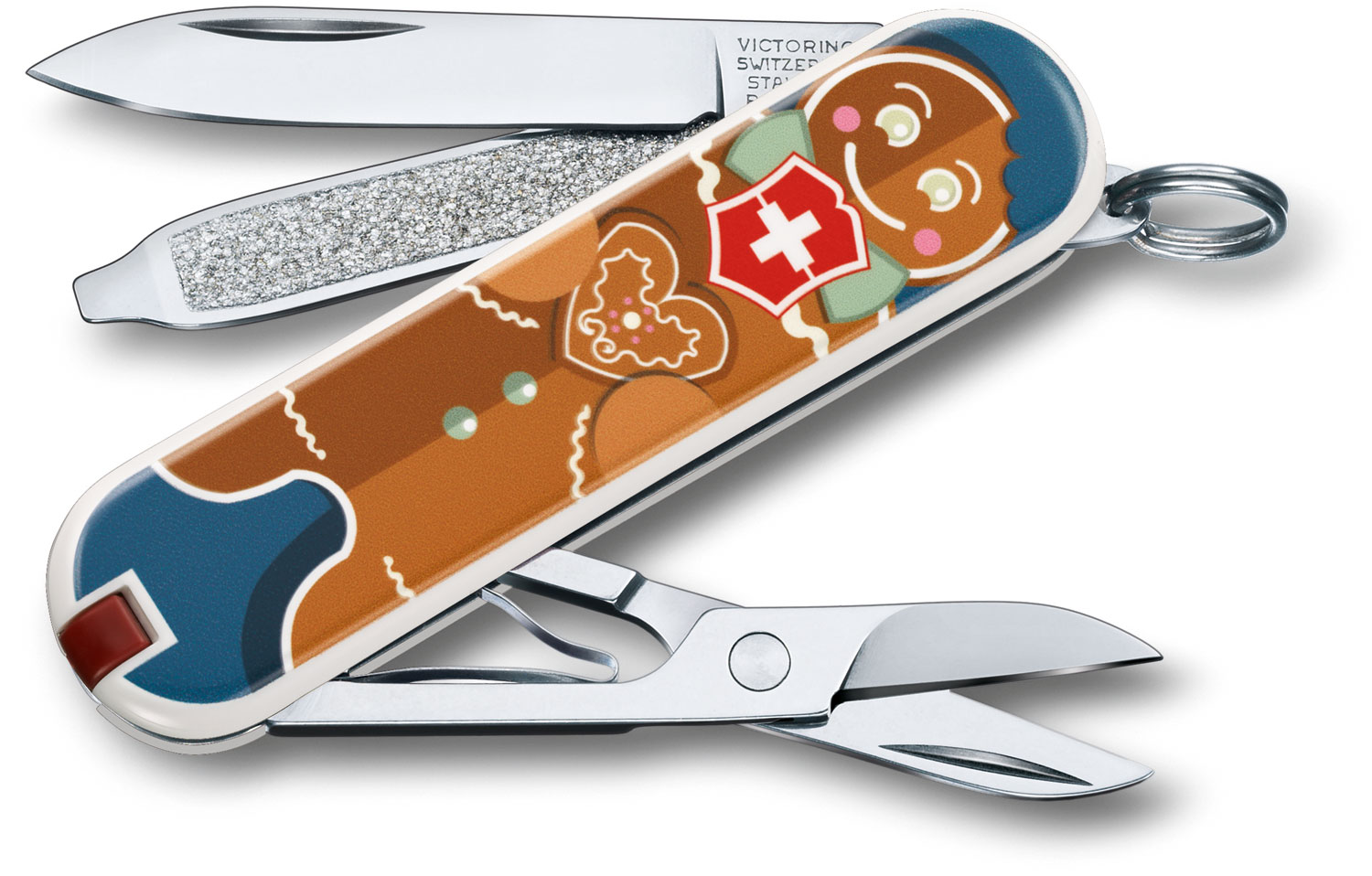 Victorinox Swiss Army Contest Classic SD Limited Edition 2019 Multi-Tool, Gingerbread Love, 2.25 inch Closed