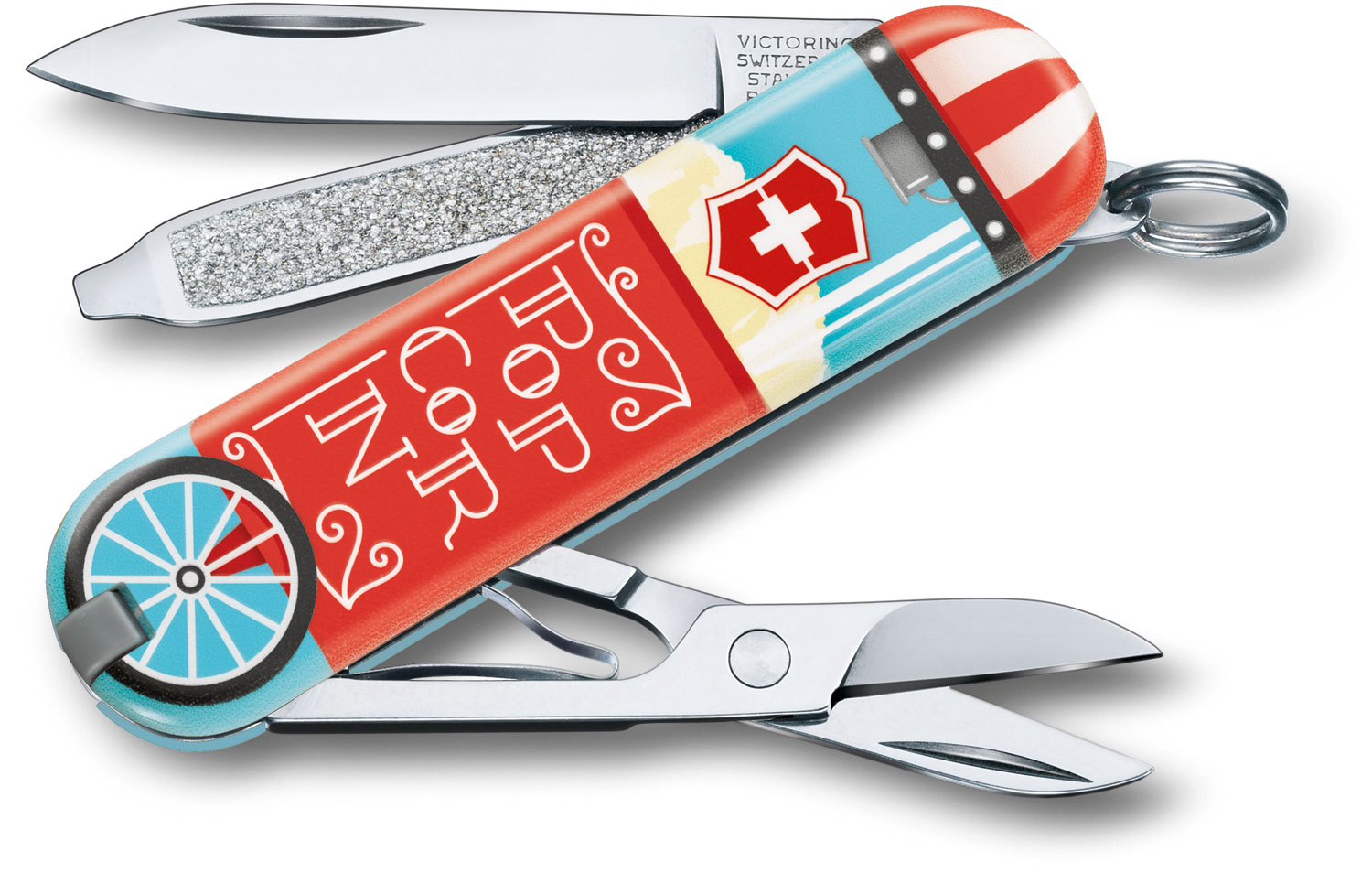 Victorinox Swiss Army Contest Classic SD Limited Edition 2019 Multi-Tool, Let It Pop, 2.25 inch Closed