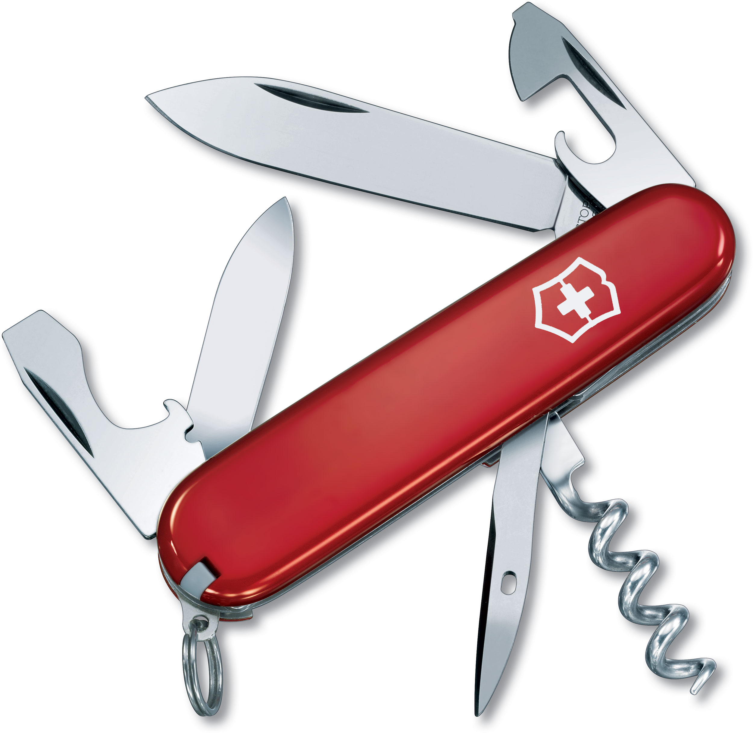 Victorinox Swiss Army Tourist Multi-Tool, Red, 3.31 inch Closed