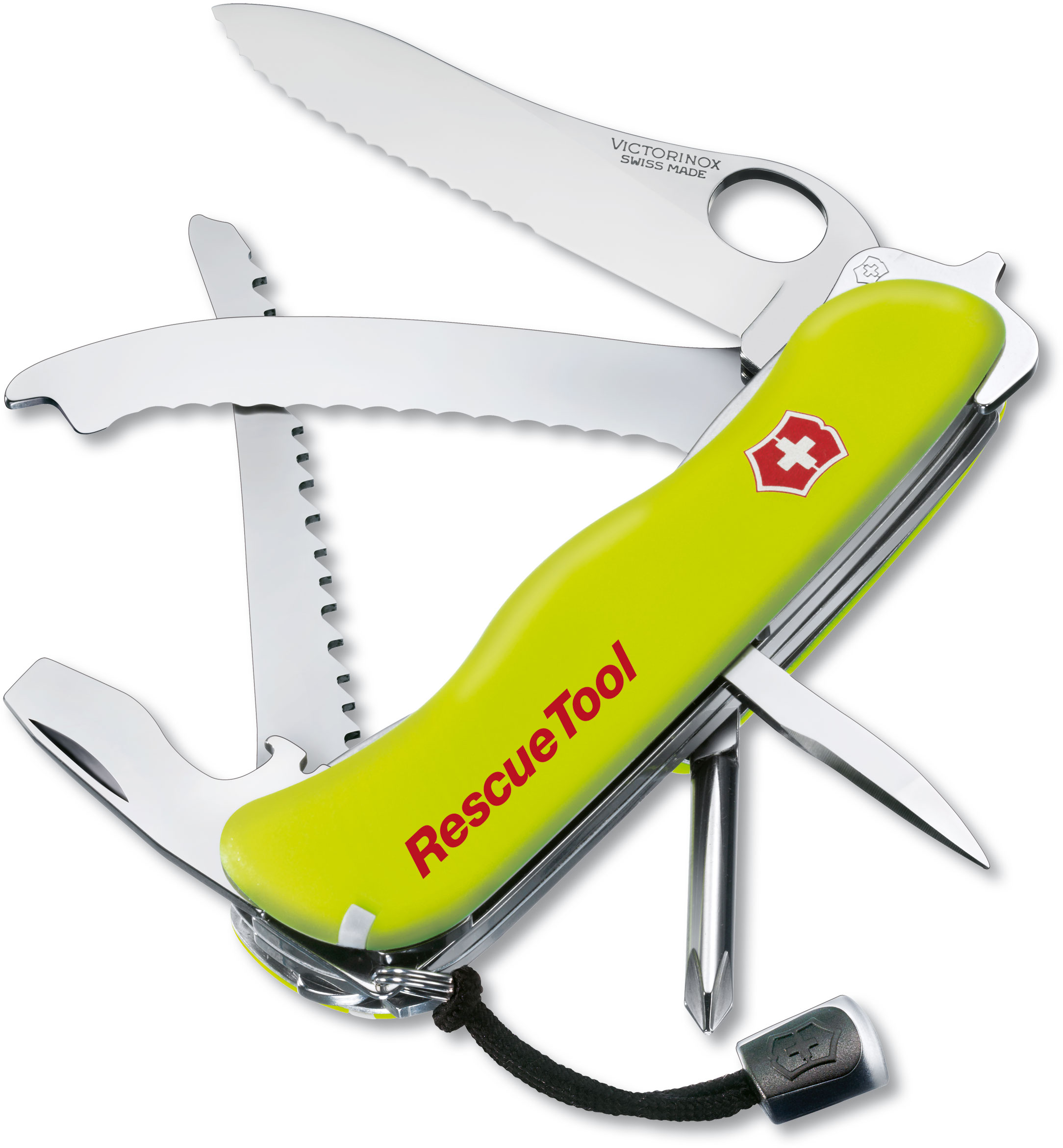 Victorinox Swiss Army RescueTool Multi-Tool, Yellow, 4.37 inch Closed