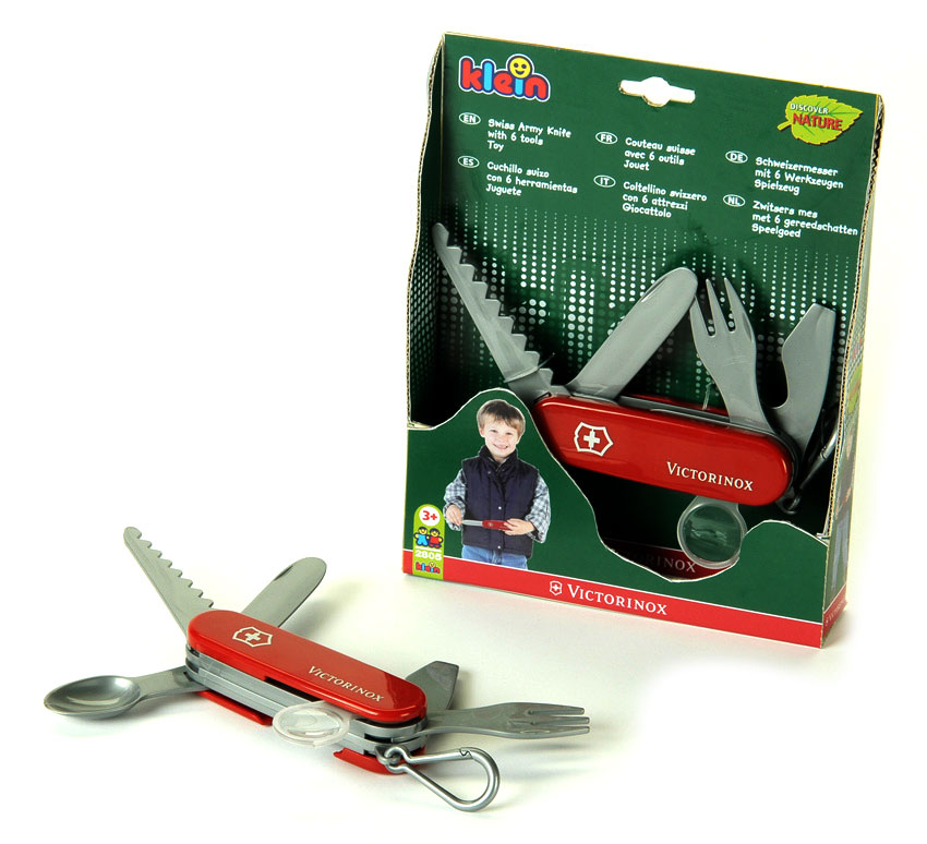 Toy Swiss Army Knife By Theo Klein Red Handles 2805