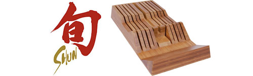 Shun Bamboo Knife Tray Knife Holder