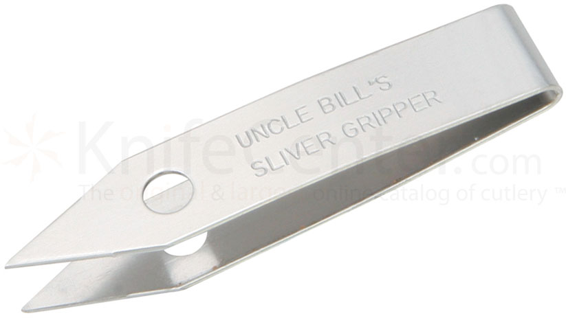 Sliver Gripper Stainless Steel Point Tweezers, Carry Vial, USA Made