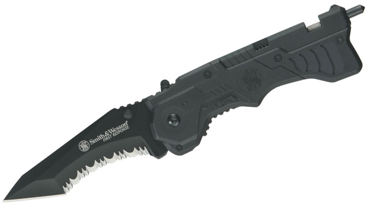 smith and wesson first response knife how to close