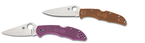 Spyderco Delica and Enduras with Flat Ground Blades