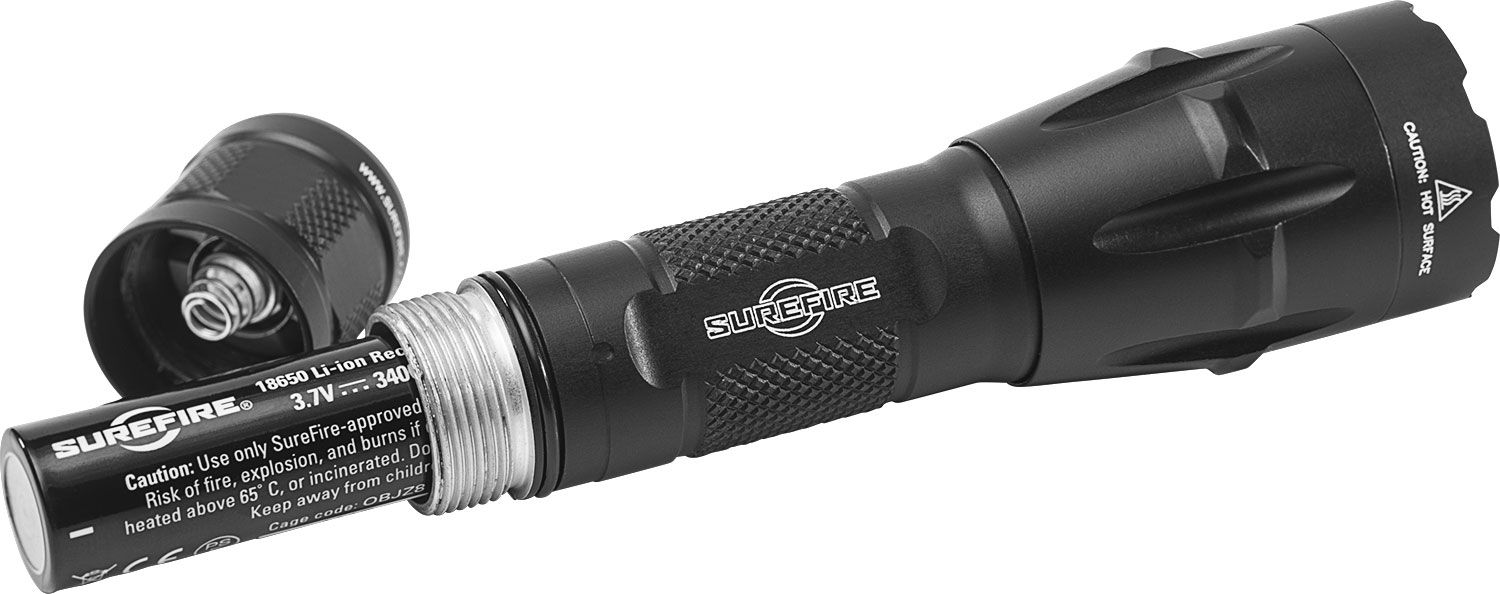 SureFire Fury Dual-Fuel Tactical LED Flashlight Camping & Outdoor