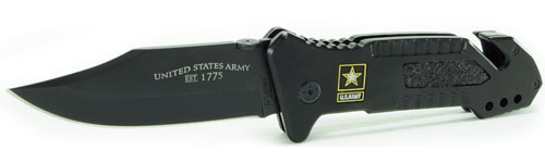 US Army Folding Knife with Collectors Tin