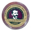 Colonel Conk Regular Amber Fragrance Shave Soap 2-1/4 inch Diameter with Glycerine Base