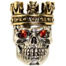 GD Skulls USA KC5-A Small King Skull with Bejeweled Eyes