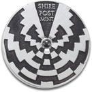 Shire Post Mint Custom Silver Strobe Spinning Top