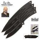 United Cutlery Wesley Hibben Large Cloak Throwing Knife Set 10 inch Overall