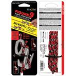 Nite Ize Figure 9 Large Rope Tightener with Rope, Silver, Single Pack (F9L-03-09)