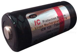 FOURSEVENS AW Brand RCR123A Lithium-Ion Battery 3.7V 750mAh