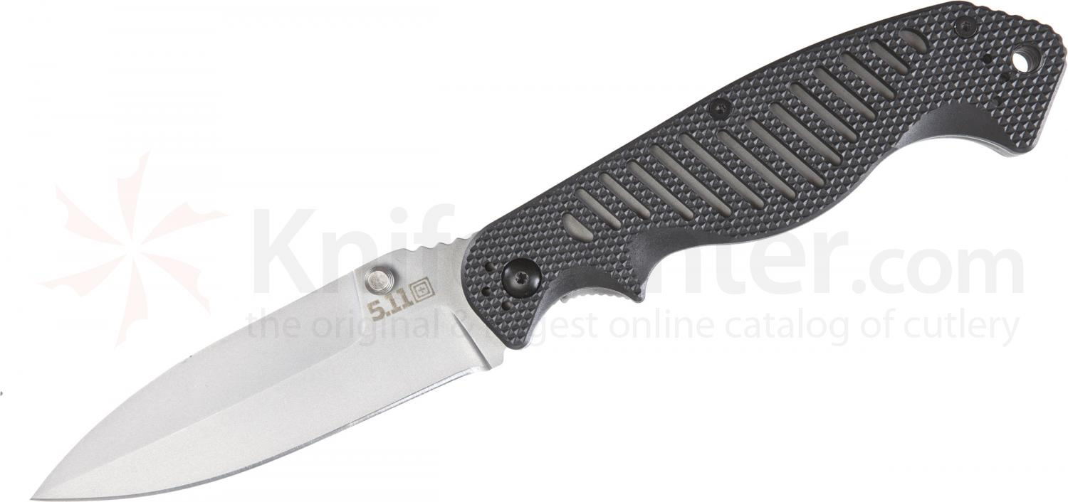 5.11 Tactical CounterStrike 3 Dagger Style Folding 3.75 Plain Blade, FRN Handles (51084)