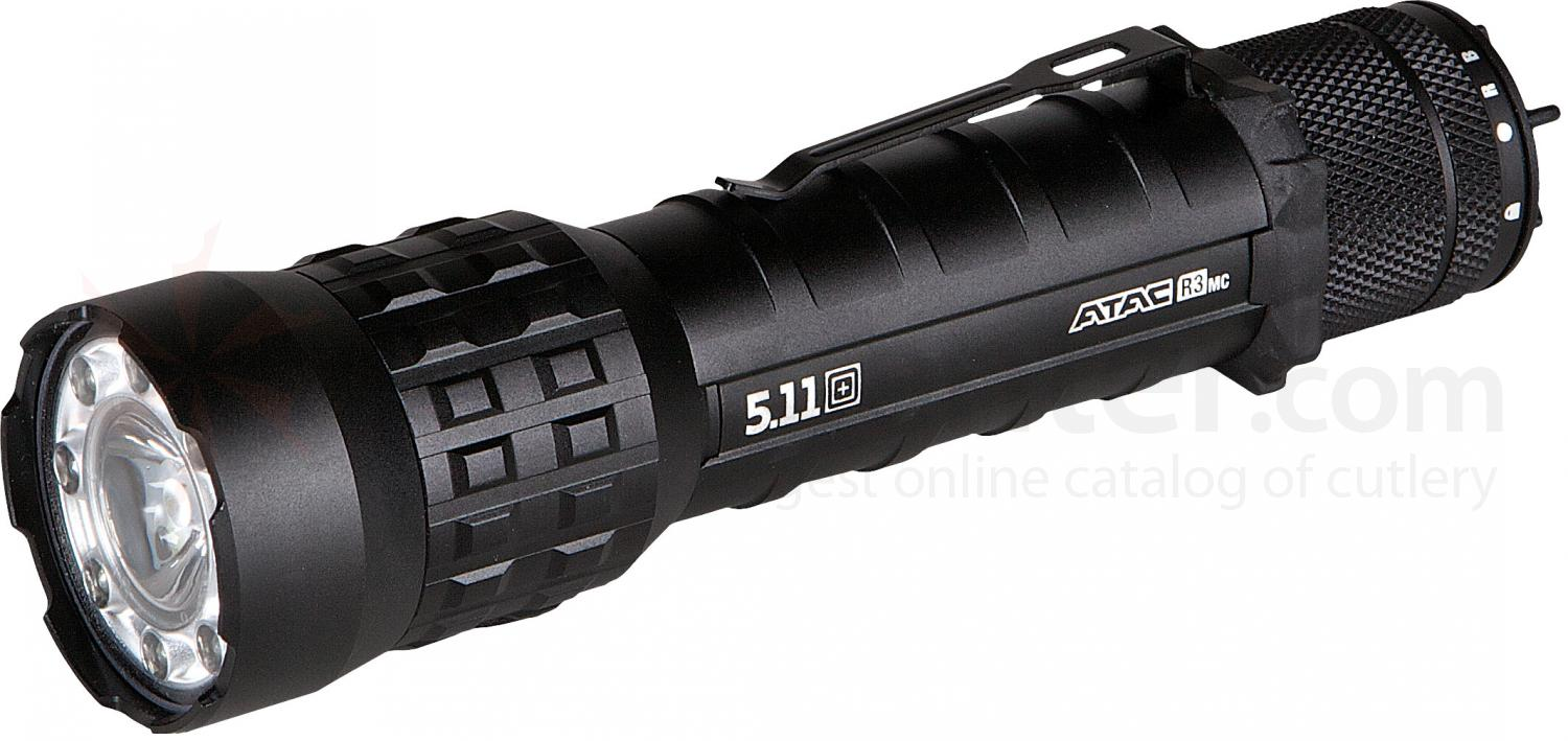 5.11 Tactical ATAC R3MC Li-Ion Rechargeable Multi-Color Tactical LED Flashlight, 239 Max Lumens (53152)