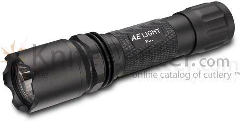 AE Light P.I. Tactical Rechargeable Cree LED Flashlight without Kit, Black, 200 Lumens