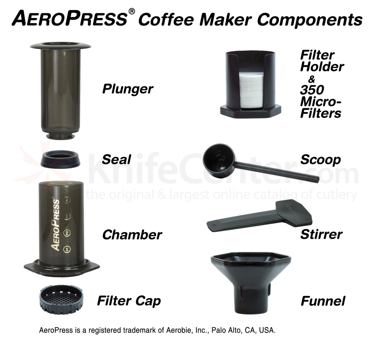 Aeropress Coffee Maker Retailers : Aerobie AeroPress Coffee & Espresso Maker, Made in the USA - KnifeCenter - 80R11