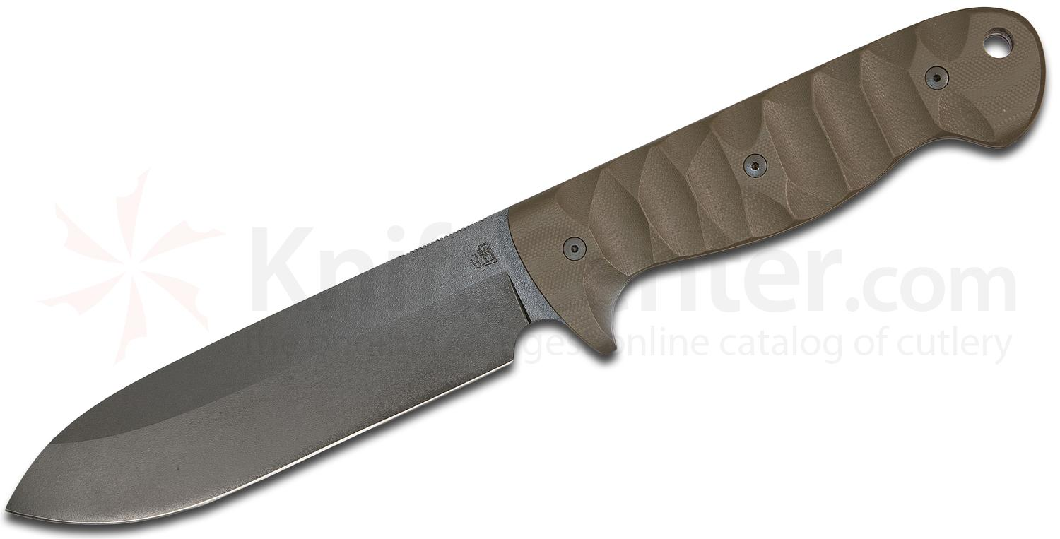 Allegheny Knifeworks M55 Fixed 6 inch OD Green A2 Spear Point Blade and G10 Handles, Kydex Sheath