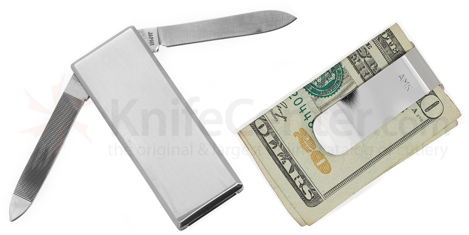 Al Mar MCSS Money/Cash Clip with Knife and File, Stainless Steel Handle 2.1 inch