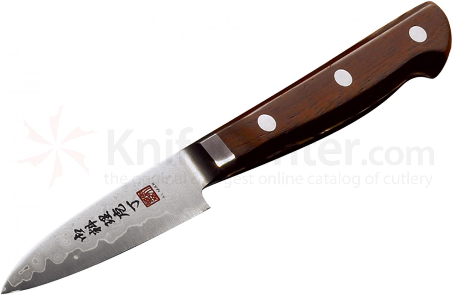 Al Mar UC2 Cocobolo Ultra-Chef Paring Knife 3 inch VG10 Damascus Blade