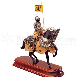 Armaduras Black Knight Miniature On Horseback
