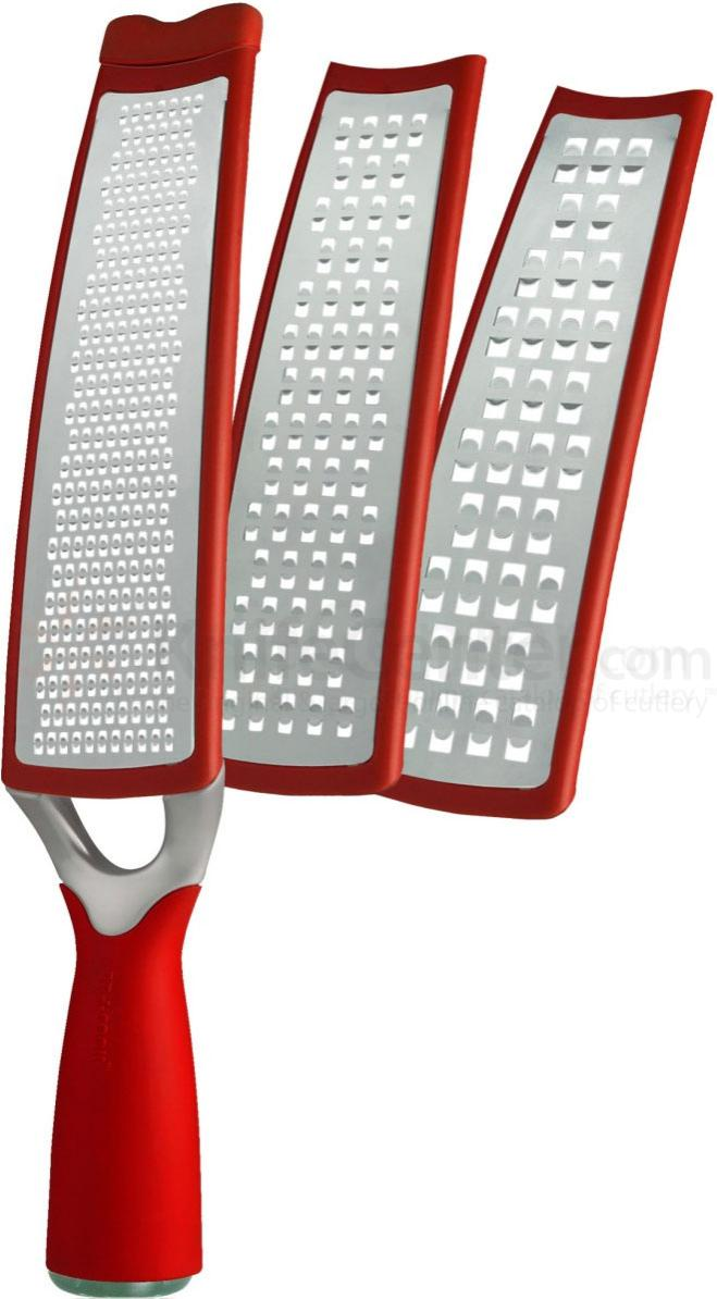 Art and Cook 3-in-1 Grater and Slicer with Interchangeable Blades - Red