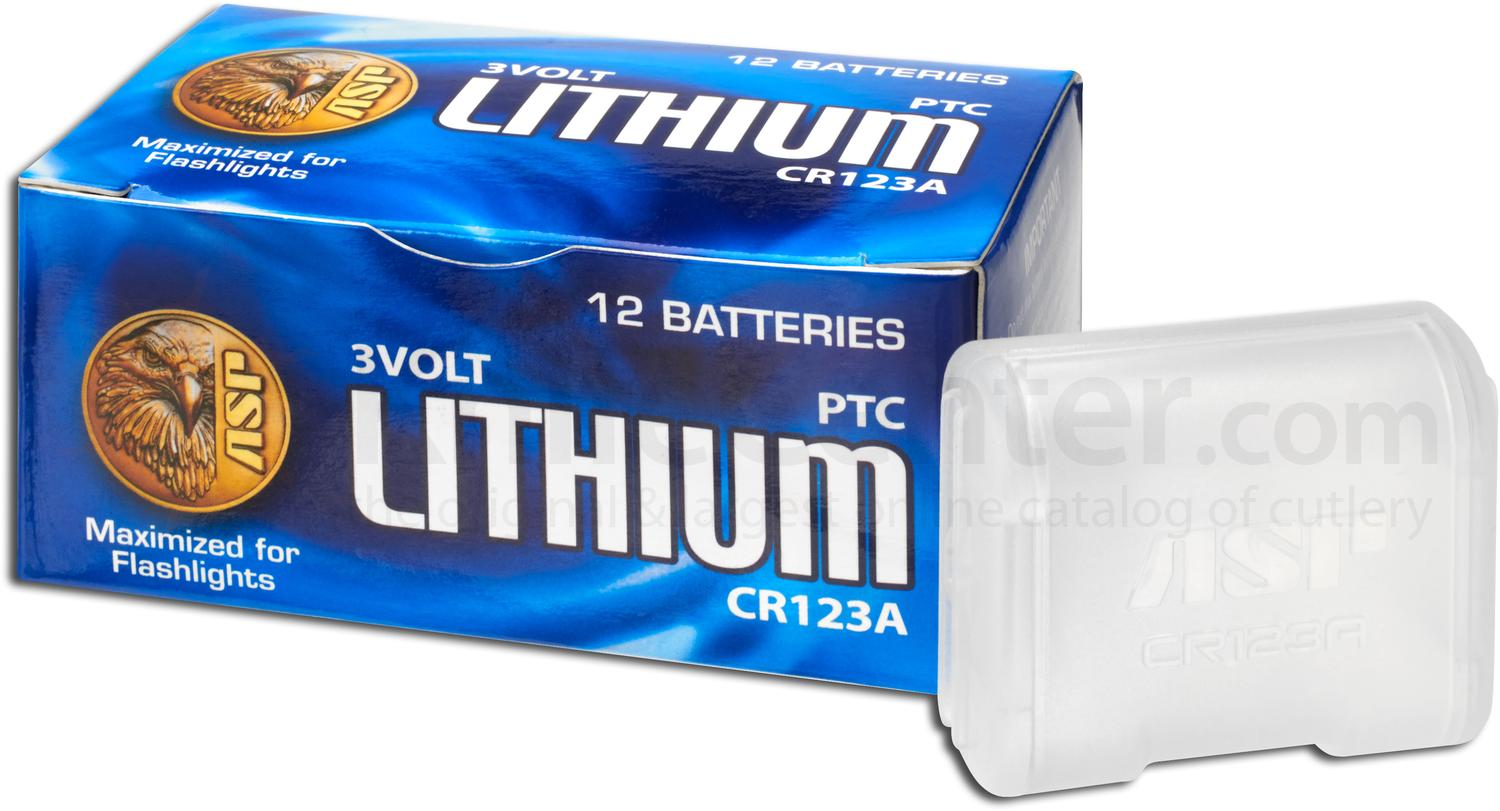 ASP CR123A Lithium Batteries, 12 Pack with Link Case