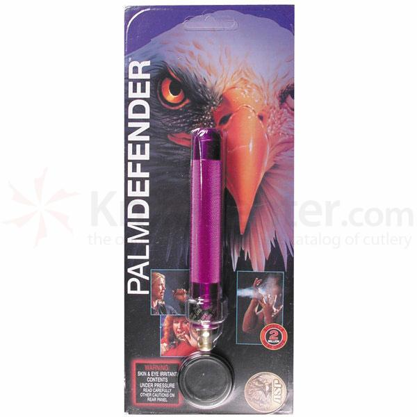 ASP Palm Defender (Violet) 4 inch Keyring Baton Pepper Spray