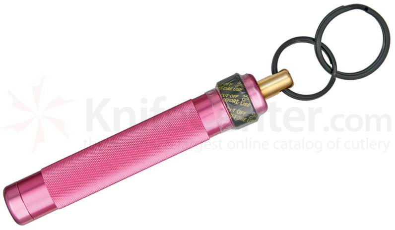 ASP Palm Defender 4 inch Keyring Baton Pepper Spray, Pink