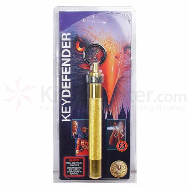 ASP Key Defender (Gold) 5.5 inch Keyring Baton Pepper Spray