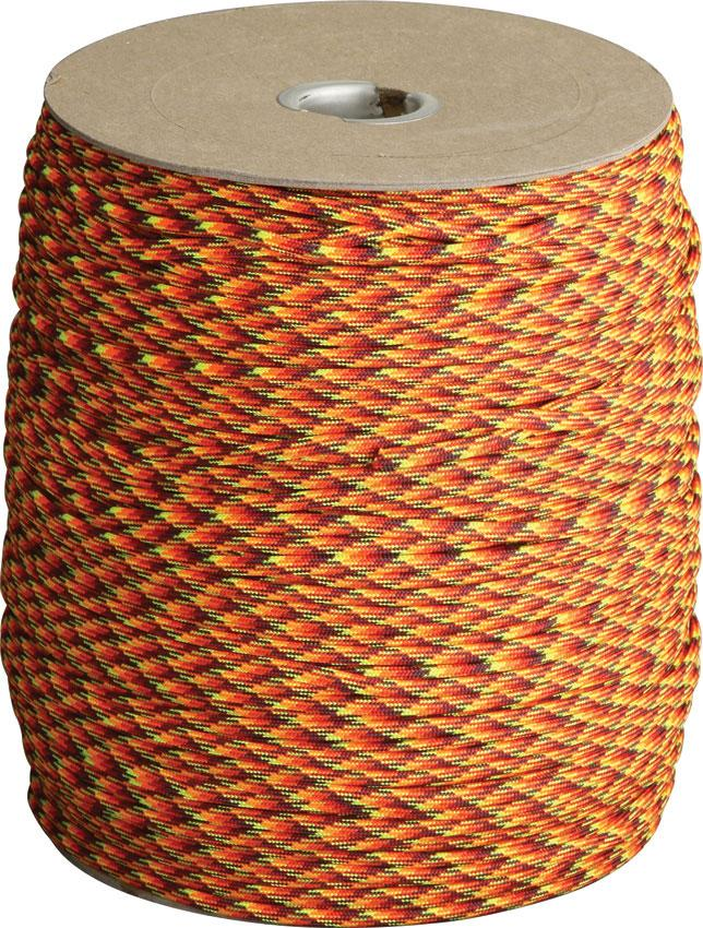 Atwood Rope 550 Paracord, Fireball, 1000 Foot Spool