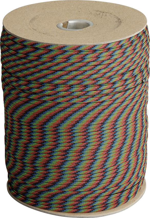 Atwood Rope 550 Paracord, Dark Stripes, 1000 Foot Spool