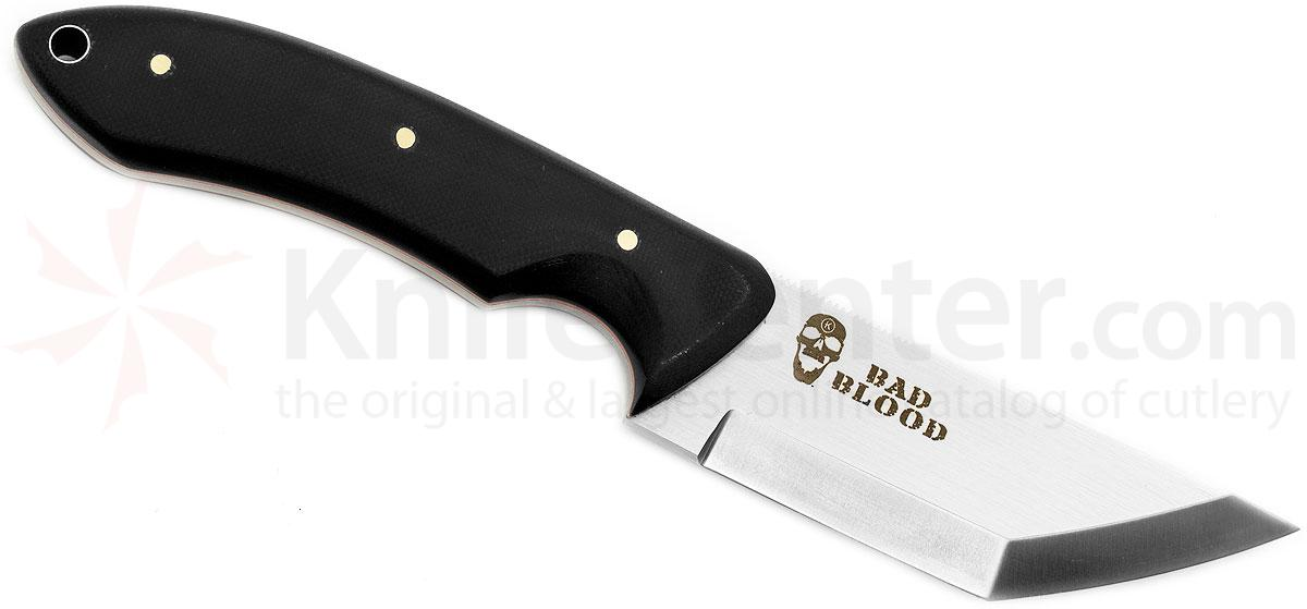 Bad Blood Knives Raiju Slim Line Fixed 4 inch 8Cr14 Stainless Blade, G10 Handle, Kydex Sheath